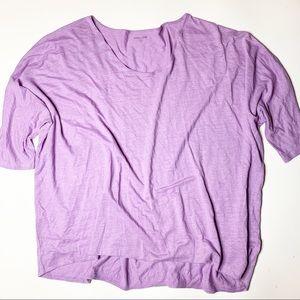 Eileen Fisher Woman Purple Linen top